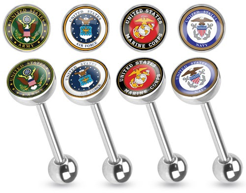 Military Tongue Barbells
