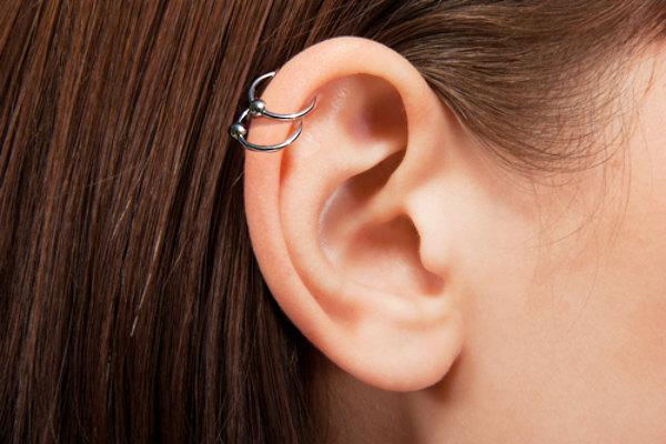 Dream Catcher Helix Earring 40 Ear Piercing Ideas to Try bodyjewelry 27