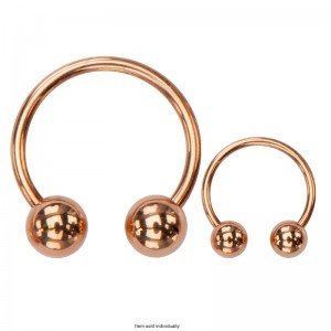Rose Gold Plated Horseshoes Ring