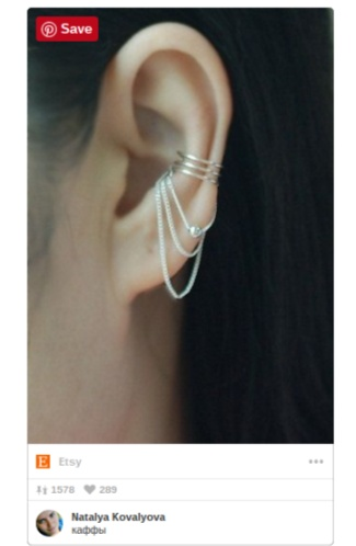 ear cuffs and chains